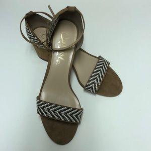 Womens Nessa Faux Suede Studded Dress Sandals